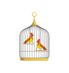 two small bright-colored birds with a long narrow vector image vector image