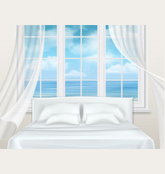 bed near window vector image vector image