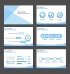 Blue presentation infographic templates set vector image vector image