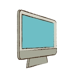 monitor device technology electronic sketch vector image