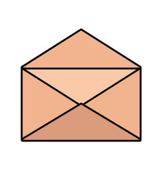 opened envelope icon vector image