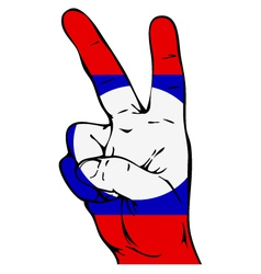 Peace Sign of the Laotian flag vector image