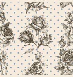 rose vintage seamless pattern vector image vector image