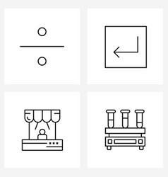 4 universal line icons for web and mobile divide vector