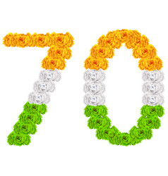 70 years anniversary republic day india number 70 vector image