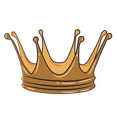 A royals head ornament or color vector