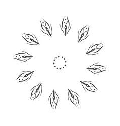 abstract flower mandala decorative element for vector image