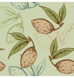 Almond pattern vector