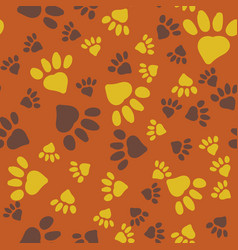 Animal paw prints seamless background vector