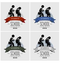 back to school logo design artwork small vector image