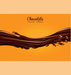 background for advertising chocolate a jet of vector image