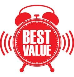 Best value red alarm clock vector