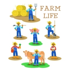Black farmers men and women working on farm vector image