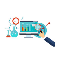 business analysis business management internet vector image