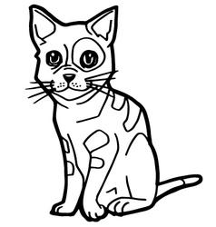 cartoon Cat Coloring Page vector image