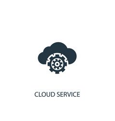 cloud service icon simple element vector image