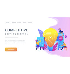 Competitive intelligence concept landing page vector