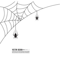 Creepy spider vector