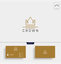 crown royal queen line logo template vector image