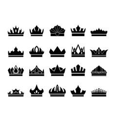 Crowns icon vector