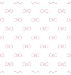 Cute minimalistic bow tie seamless pattern vector