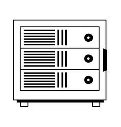 Data server files icon image vector