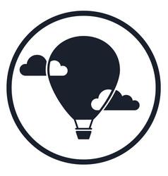 Dirigible and hot air balloons airship tools of vector