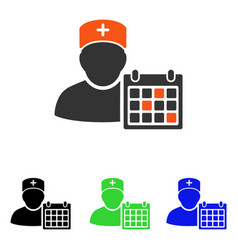 Doctor appointment flat icon vector