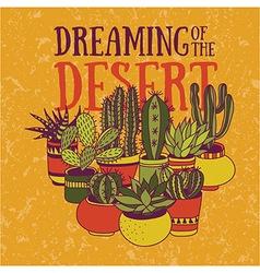 Dreaming of the desert vector image