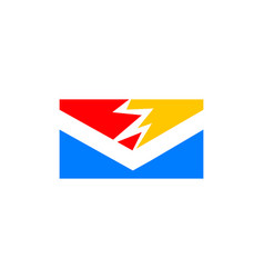 electric mail icon logo design element vector image