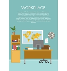 Empty Workspace Design vector