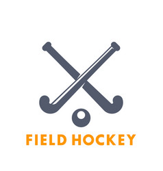 field hockey icon logo elements over white vector image