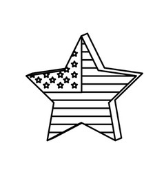 Figure star independece day flag icon vector