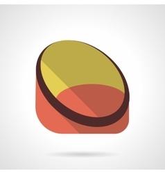 Frameless chair flat color design icon vector