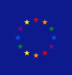 Gay european flag vector