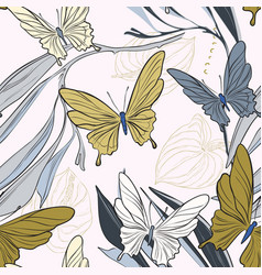 geometric repetiotion butterfly pattern spring vector image