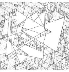 Geometric simple black and white minimalistic vector image