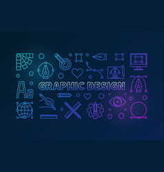 Graphic design bright outline vector