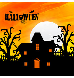 happy halloween with light background vector image