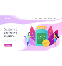 Homeopathy concept landing page vector