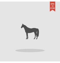 Horse Icon Modern design flat style vector