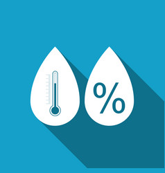 Humidity icon isolated with long shadow vector