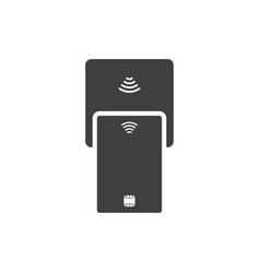 icon of contactless payment by a plastic card vector image