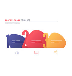 infographic numbered process chart template vector image
