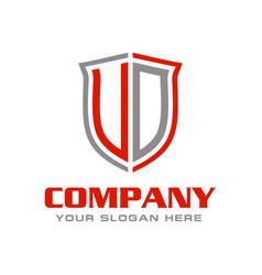 Initial letter ud logo design vector