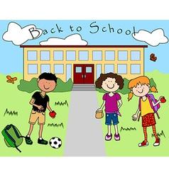 Kids going back to school vector image
