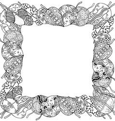 Leaf Frame Sketch vector