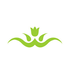 leaf green logo vector image