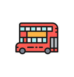 london double-decker bus traditional public vector image