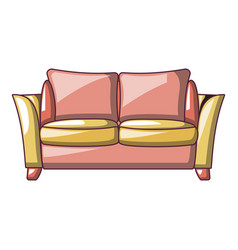 love seat sofa icon cartoon style vector image
